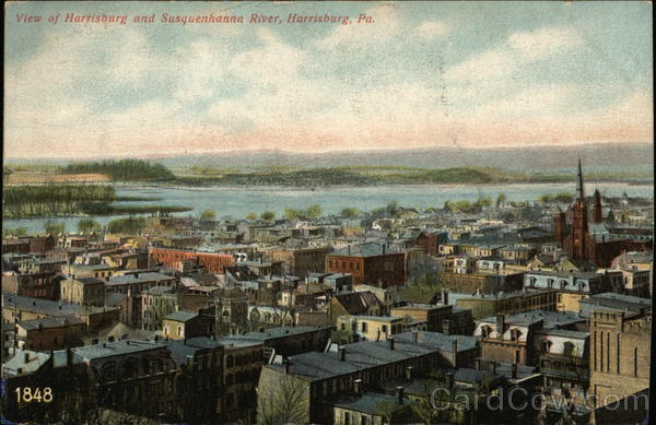 View of Harrisburg and Susquehanna River Pennsylvania