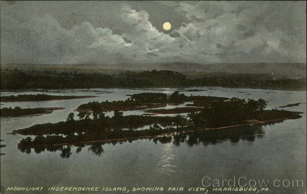 Moonlight Independence Island, Showing Fair View Harrisburg Pennsylvania