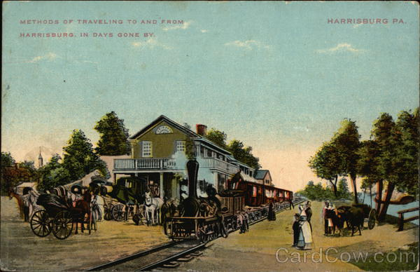 Methods of Traveling to and From City in Days Gone By Harrisburg Pennsylvania