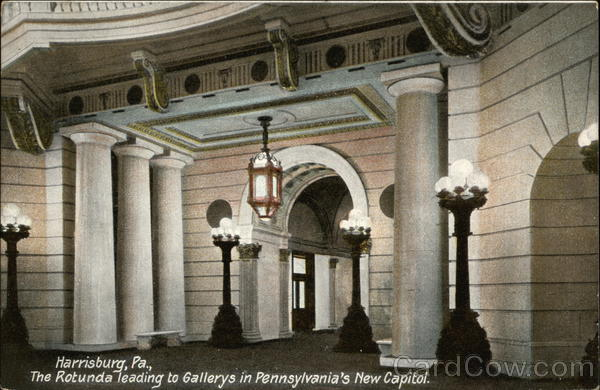 The Rotunda Leading to Gallerys in Pennsylvania's New Capitol Harrisburg