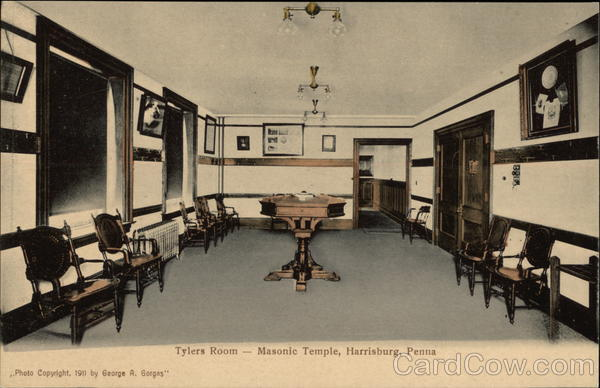 Tylers Room - Masonic temple Harrisburg Pennsylvania