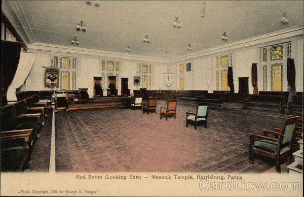 Red Room (Looking East) - Masonic Temple Harrisburg Pennsylvania