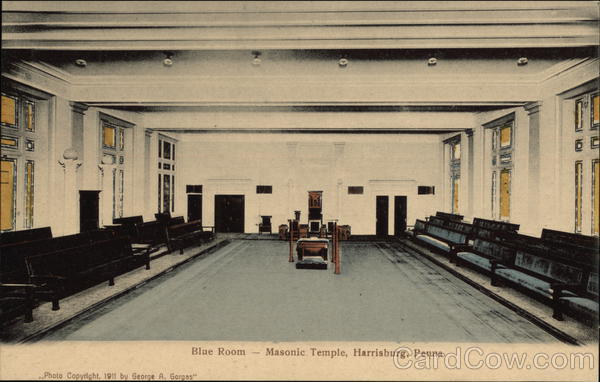 Blue Room, Masonic Temple Harrisburg Pennsylvania Freemasonry