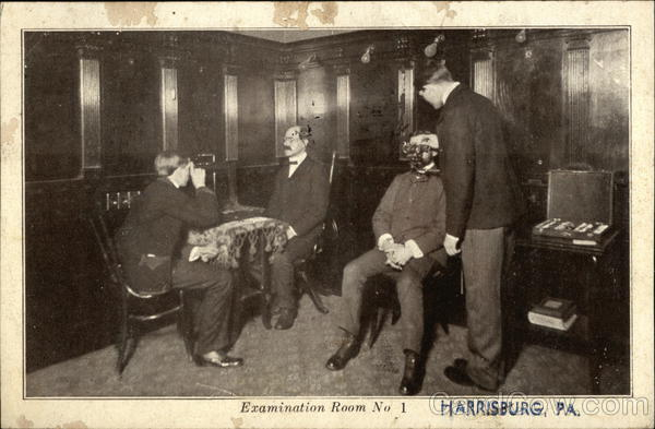 R. D. Pratt, Optometrist - Examination Room No.1 Harrisburg Pennsylvania