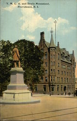 Y.M.C.A. and Doyle Monument
