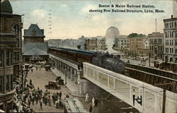 Boston & Maine Railroad Station, showing New Railroad Structure