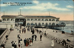 Scene on Board Walk Showing Arcade