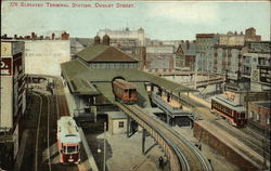 778 Elevated Terminal Station, Dudley Street Postcard