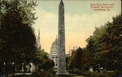 West State Street and Soldiers' Monument