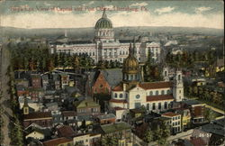 Bird's Eye View of Capitol and Post Office Postcard