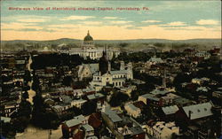 Bird's-Eye View of City, Showing Capitol