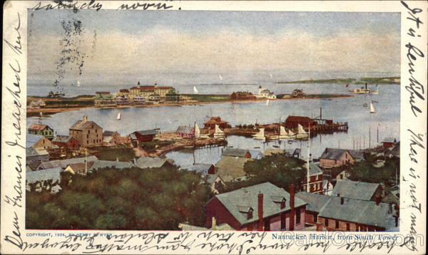 Nantucket Harbor from South Tower Massachusetts