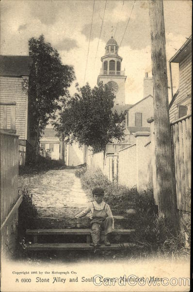 Stone Alley and South Tower Nantucket Massachusetts