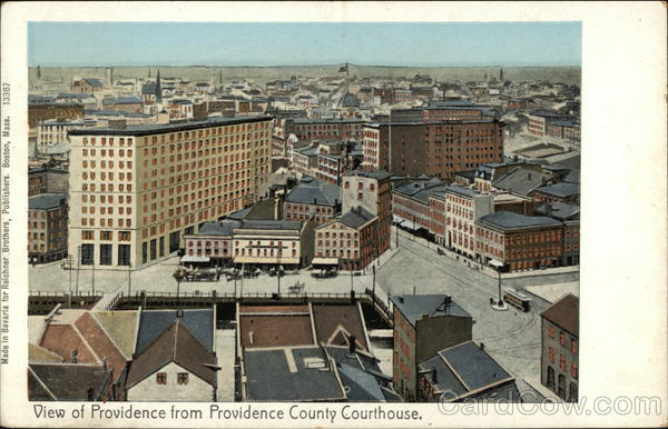 View of City from County Court House Providence Rhode Island