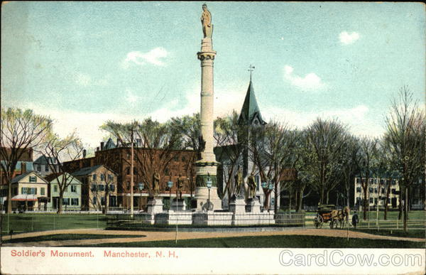 Soldiers Monument Manchester New Hampshire
