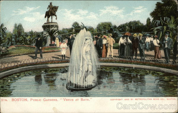 Public Gardens, Venus at Bath Boston Massachusetts