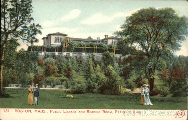 Public Library and Reading Room, Franklin Park Boston Massachusetts