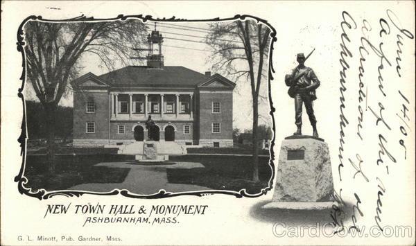 New Town Hall & Monument Ashburnham Massachusetts