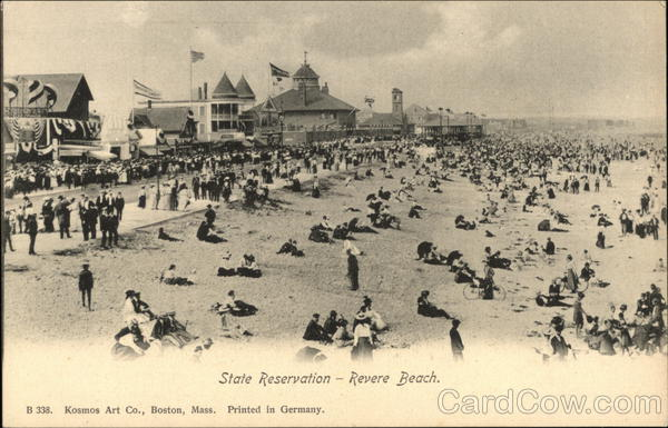 Bathers at State Reserve Revere Beach Massachusetts