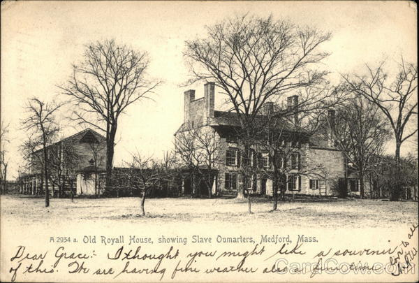Old Royall House, Showing Slave Oumarters Medford Massachusetts