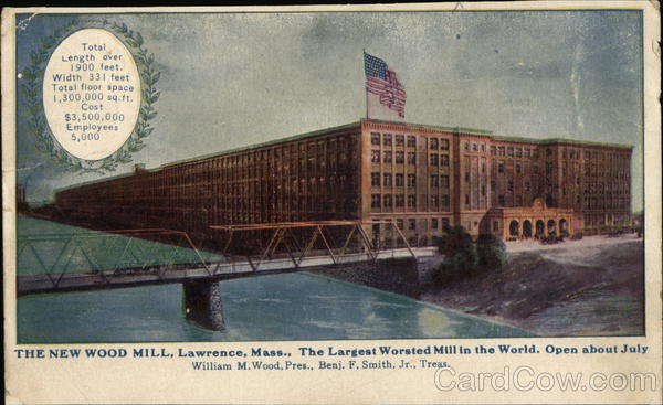 The New Wood Mill Lawrence Massachusetts