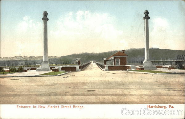 Entrance to New Market Street Bridge Harrisburg Pennsylvania