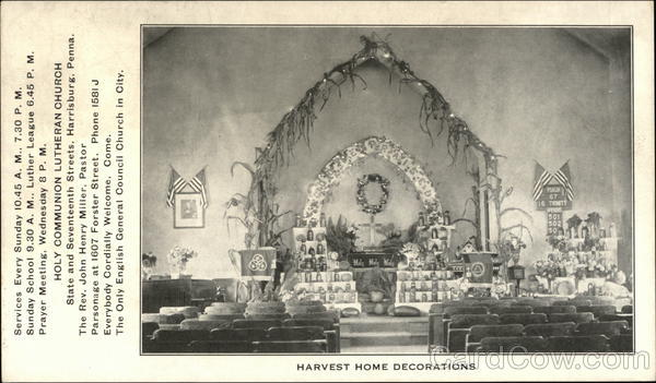 Harvest Home Decorations, Holy Communion Lutheran Church Harrisburg Pennsylvania