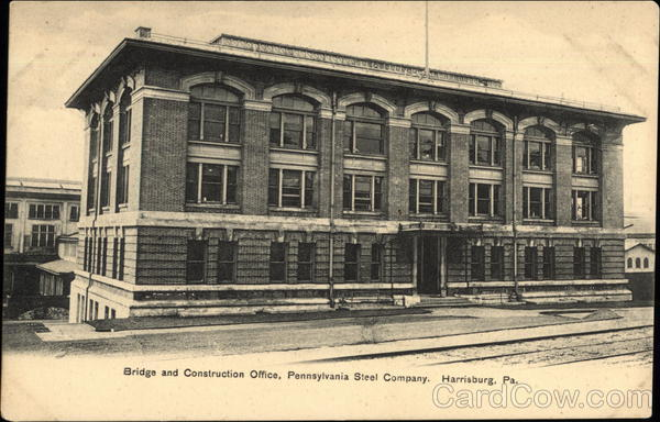 Bridge and Construction Office, Pennsylvania Steel Company Harrisburg