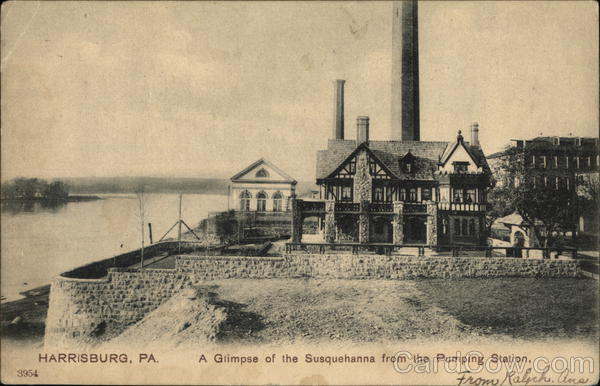 Glimpse of the Susquehanna from the Pumping Station Harrisburg Pennsylvania