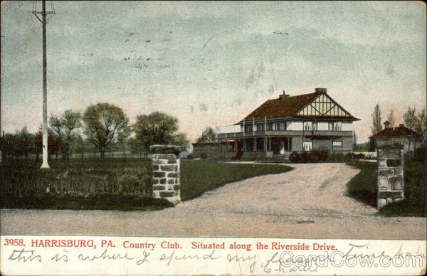 Country Club, Situated along the Riverside Drive Harrisburg Pennsylvania