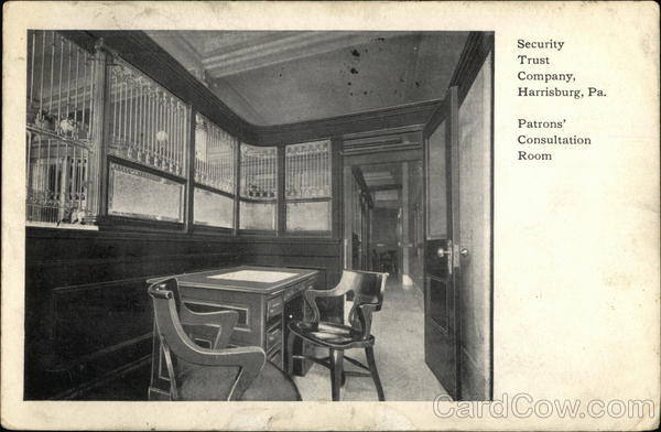 Security Trust Company - Patrons Consultation Room Harrisburg Pennsylvania