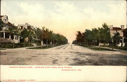 Armour Boulevard, Looking East from Main Street