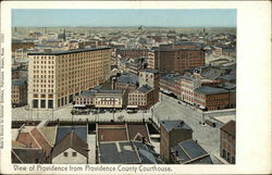 View of City from County Court House Postcard