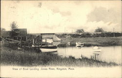 Boat Landing, Jones River Postcard