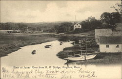 View of Jones River from R.R. Bridge