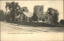View of Unitarian Church Postcard