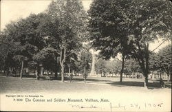 The Common and Soldiers Monument