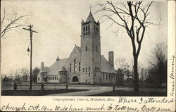 View of Congregational Church Postcard