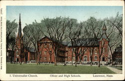 Universalist Church, Oliver and High Schools