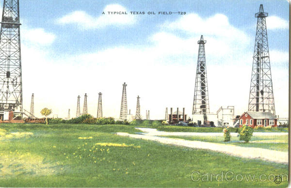 A Typical Texas Oil Field Scenic