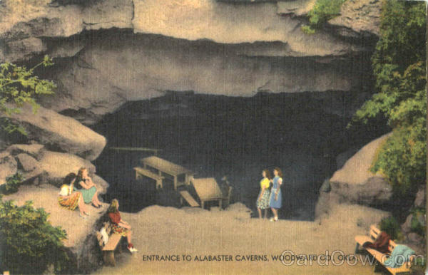 Entrance To Alabaster Caverns Oklahoma