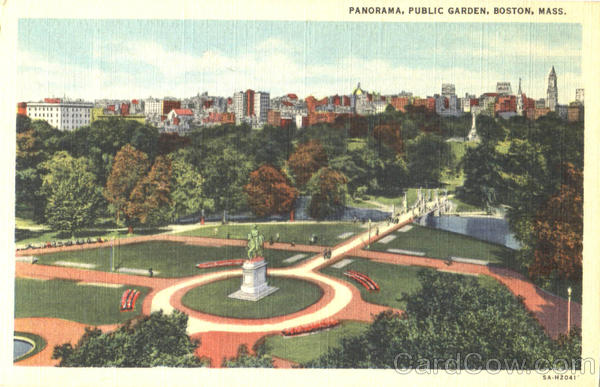 Panorama , Public Garden Boston Massachusetts