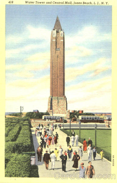 Water Tower And Central Mall, Jones Beach L. I., New York
