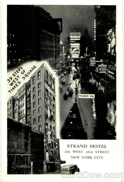Strand Hotel, 206 West 43rd Street New York City