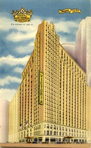 The new hotel victoria 7th avenue at 51st st radio city new york city