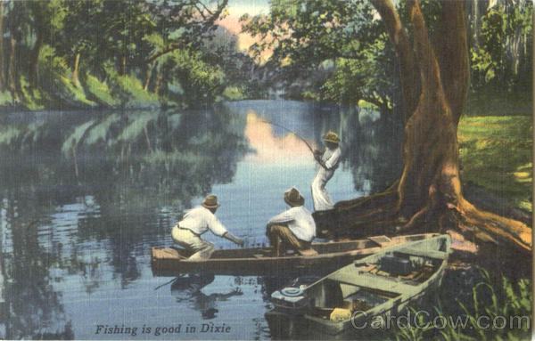 Fishing Is Good In Dixie Black Americana