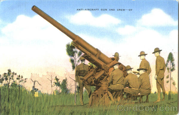 Anti Aircraft Gun And Crew Army