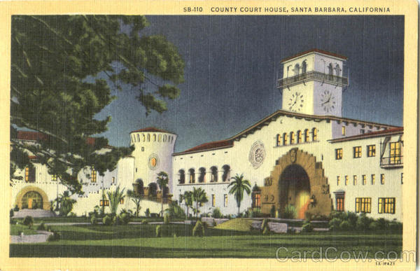 County Court House Santa Barbara California