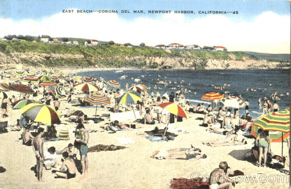 East Beach , Corona Del Mar Newport Beach California