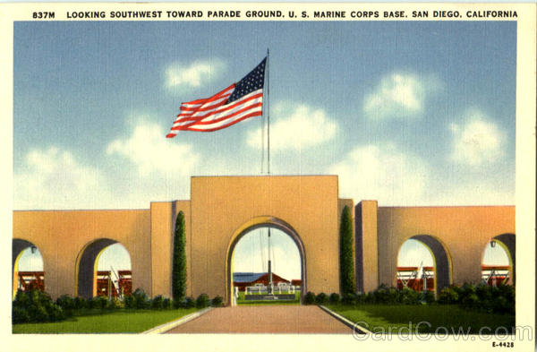 Looking Southwest Toward Parade Ground U. S. Marine Corps Base San Diego California